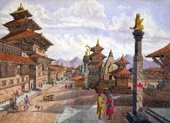 Painting of Patan Durbar Square