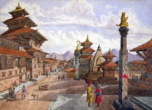 Painting of Patan Durbar Square