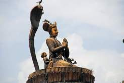 A statue of Mall King located at Patan Durbar Square
