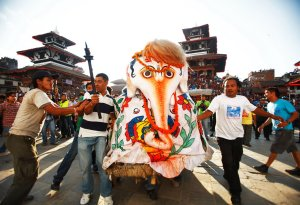 Relic of Lord Ganesha carried during Indra Jatra