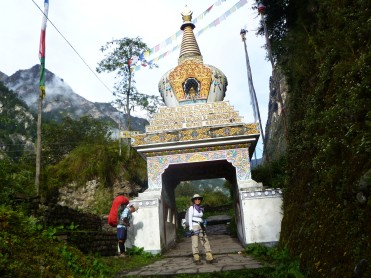 Chorten seen at Annapurna Circuit
