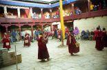 Monks rehearsing for Mani Rimdu