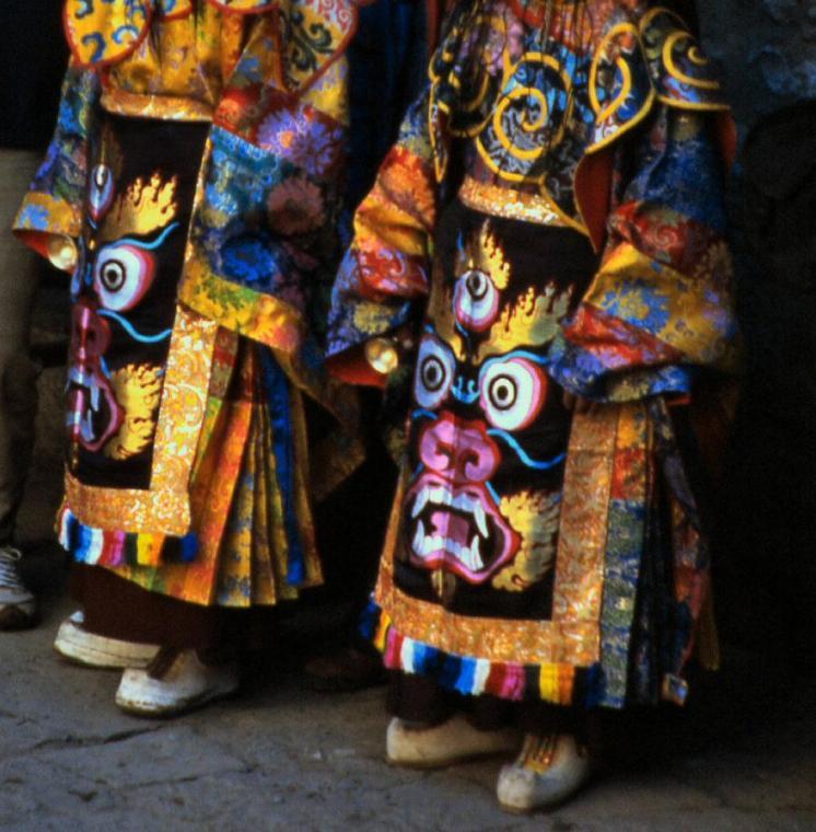 Sacred aprons used only during Mani Rimdu dances