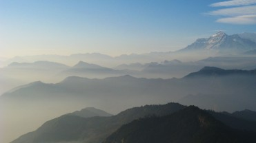 View seen from the top of Ghorepani