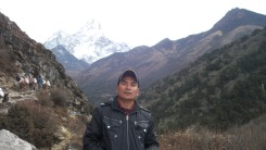 Hom Rana during his recent trip to Everest Base Camp