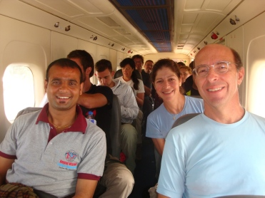 Ram flying to Lukla with tourists