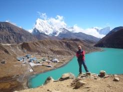 Ram posing at Gokyo valley, Everest