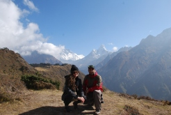Ram with a tourist at Tengboche