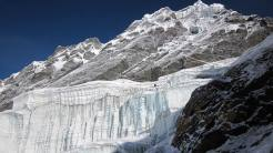 Ice wall seen while Mera Peak summit