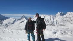 Rob and his Sherpa guide pose at Amphu Laptsa