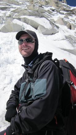 Robert Gropel climbing Island peak