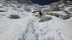 Pem Sherpa attempting a climb