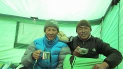 Pem Sherpa enjoying coffee