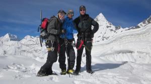 Pem Sherpa posing with Marisa and Robert