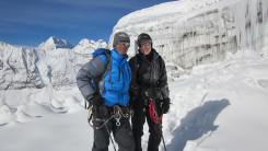 Pem Sherpa with Marisa Strydom at Mera Peak