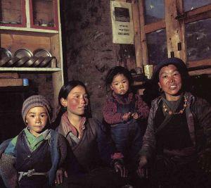 Sherpa family of Solukhumbu