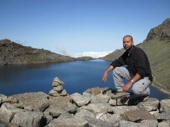 Sudip posing in front of Gosainkunda