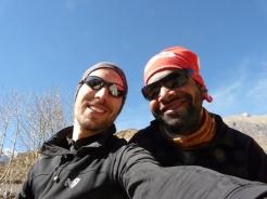 Sudip posing with tourist