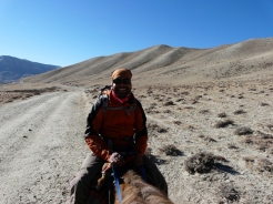 Sudip riding horse at Mutang