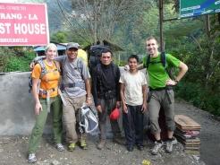 Sudip with tourists at Jiri