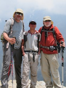 Brian stauffer and Robert hunt with Kim Rana