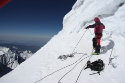 Atempting Mera Peak Summit