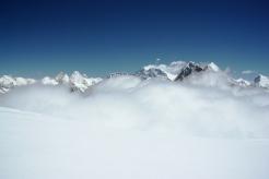 Mahalangur Himalaya range seen from Mera summit