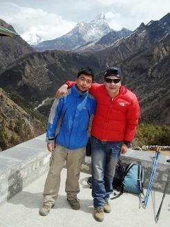 Kim and Keshar Gurung at Namche bazar