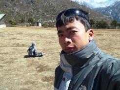 Kim posing at Langtang
