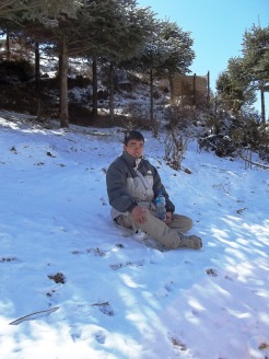 Resting at Annapurna Circuit