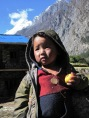 A toddler roaming around at Shey Phoksundo area