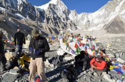 Keshar Gurung at Evrerest Base camp