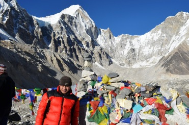 Keshar Gurung posing at Evrerest Base camp