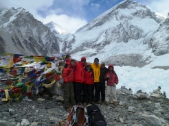 Keshar Gurung at Evrerest Base camp