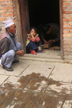 A Newari elder with a child