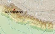Rara National park on Map