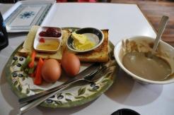 A heavy breakfast