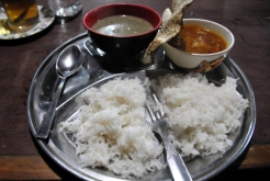 Rice served with local curry