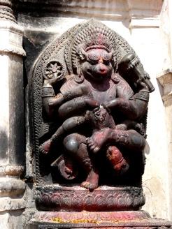 Kathmandu stone statue dating to Malla period
