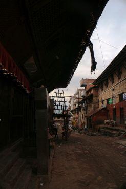 Narrow alley in Kathmandu
