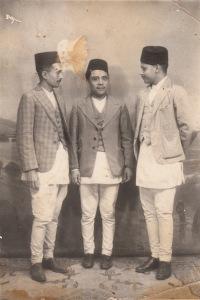 Men in typical Newari attire