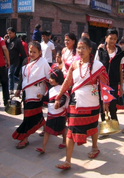 Newari women in Haku Patasi