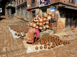 Pottery left to dry at Bhaktapur