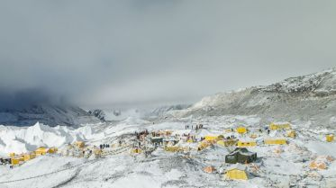 Everest Base Camp after the avalanche