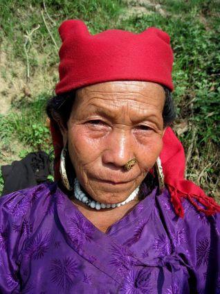 Ethnic Tamang woman