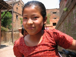 A young girl in Bhaktapur