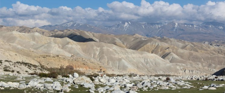 Deserted mountains in upper mustang