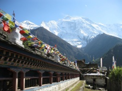 Dhaulagiri from manang