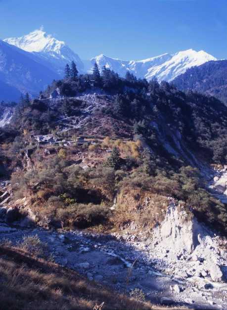 Gadpar, Mt.Dhaulagiri 8172 m and Tukuche 6920m.