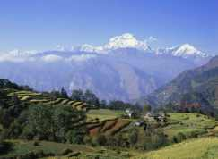 Mt Dhaulagiri 8172 m from Chiltre